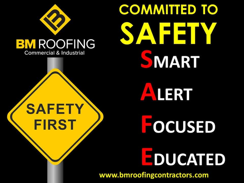 BM Roofing practices roofing safety